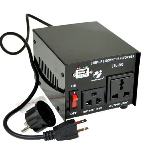 Goldsource STU-200 Step Up/Down Voltage Transformer Converter - AC 110/220 V - 200 Watt