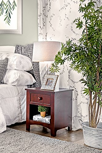 Furniture of America Alaia Dark Walnut Nightstand by Furniture of America