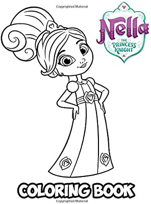 Nella The Princess Knight Coloring Book Coloring Book For Kids And Adults Activity Book With Fun Easy And Relaxing Coloring Pages Ivazewa Alexa Amazon Ae