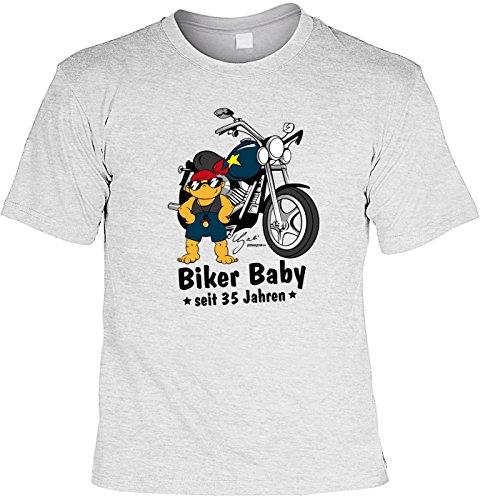 T-Shirt - Biker Baby Seit 35 Jahren - lustiges Sprüche Shirt als Geschenk zum 35. Geburtstag