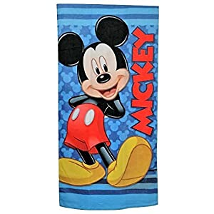 "Mickey Mouse Beach Towel Blue 28"" x 58"""
