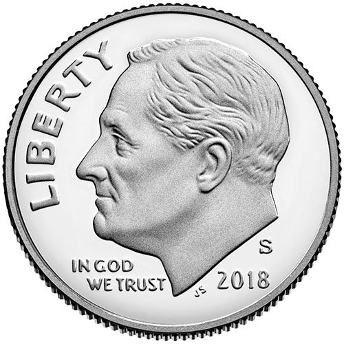 (2018 S Silver Proof Roosevelt Dime Choice Uncirculated US Mint)