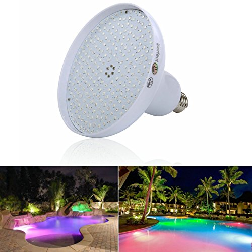 Swimming Pool Light Bulb: Amazon.com : iPerfect Color Changing 20W Swimming Pool Lights LED, 100w  Haolegen Bulb Replacement, LED Pool Lamp Bulb for Pentair Hayward Light  Fixture ...,Lighting