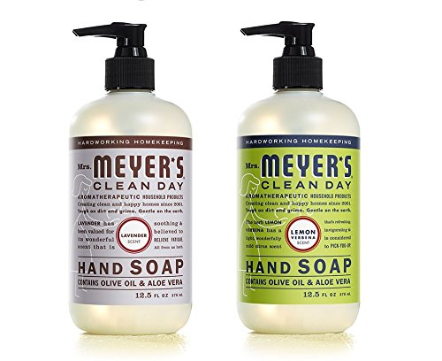 (Mrs. Meyers Liquid Hand Soap Lavender & Lemon Verbena, 12.5 oz. each)