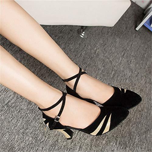 25 Cm 22 una de Plata del la señora Latinos Adulto El Gamuza 5 Baile con de tamaño de Negro Cm de Negro ES los Hutt Zapatos Black Silver de Oro 7cm Altura Verano 0 la a Suaves del wTPZqH