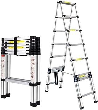 LADDER Escaleras telescópicas, Escaleras de espiga telescópicas de aluminio de 9.5 pies para ingeniería, Escalera extensible profesional multipropósito para oficina, Carga de 330 lb: Amazon.es: Bricolaje y herramientas