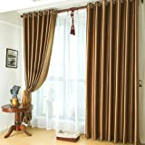 KoTing Home Fashion Modern Polyester Solid Brown Embossing Thermal Insulated Room Darkening Window Curtains Drapes Grommet Top,Set of 2 Panels,72 by 84-Inch Each Panel Review