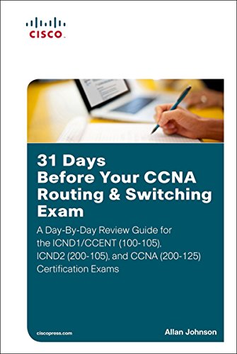 Best 31 Days Before Your CCNA Routing & Switching Exam: A Day-By-Day Review Guide for the ICND1/CCENT (10<br />W.O.R.D