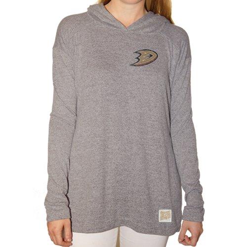 (Original Retro Brand NHL Anaheim Ducks Women's Pullover Hoodie, Medium, Grey)