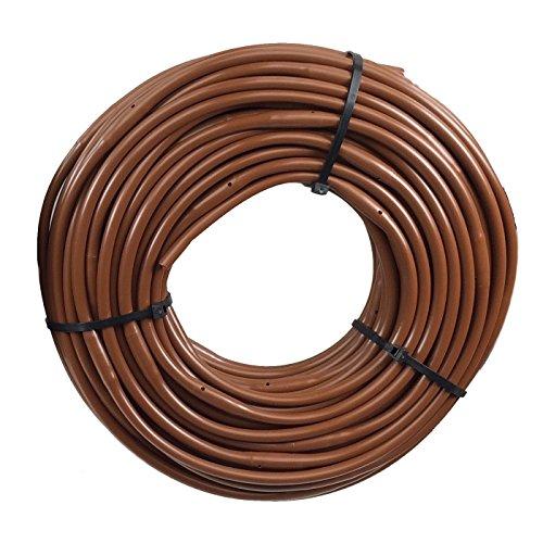 1/4 Poly Dripline 9'' Spacing 0.5 GPH 100' Roll Brown Drip Tubing by Drip Depot