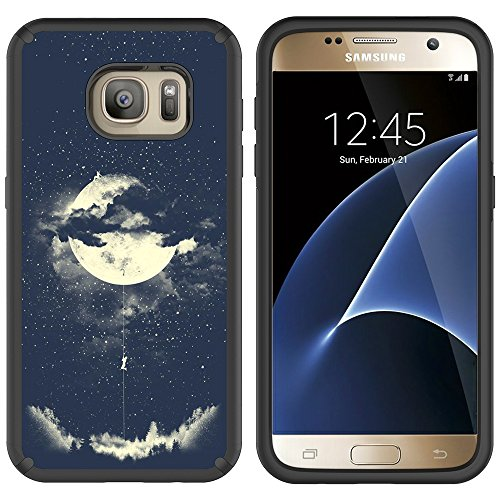 S7 Case, Galaxy S7 Case, MagicSky Slim Corner Protection Shock Absorption Hybrid Dual Layer Armor Defender Protective Case Cover for Samsung Galaxy S7 (Night -