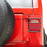 EAG 87-06 Jeep Wrangler TJ/YJ Black Textured Off Road Taillight Tail Light Guards Steel Protector