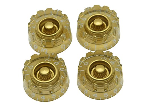 Speed Guitar Control Knobs Set of 4 Gold - 1