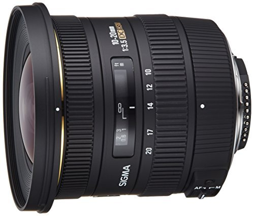 Sigma 10-20mm f/3.5 EX DC HSM ELD SLD Aspherical Super Wide Angle Lens for Nikon...