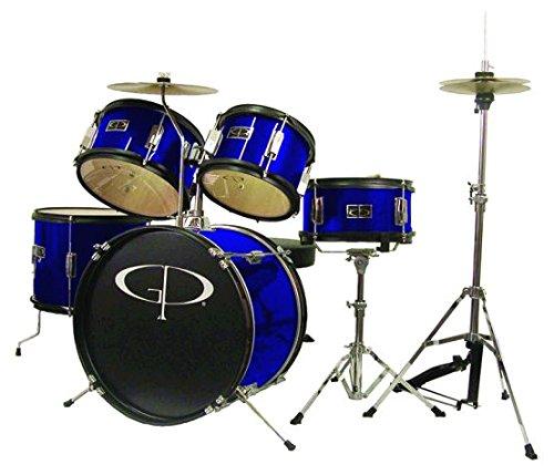GP 5pc Jr Drum Kit BluE - GP55BL by GP Percussion