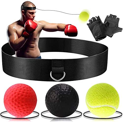 Fight Ball Reflex Boxing Trainer Training Boxer Speed Punch Head String-Ca 7T6S