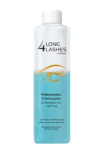 Amazon.com : Long 4 Lashes by Oceanic, Two-Phase Conditioning Eye Make-Up Remover with Biotin, 8.45 Oz (Pack of 1) : Beauty