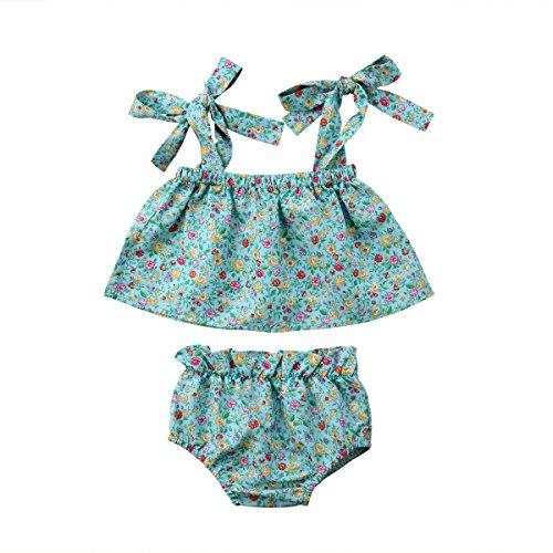 Prendisole Pantaloni Cinghia Infante Abito Floreale Neonato Bambina Della Vestito 2pcs Shorts Emmababy Top Estivi Tubo xSqaXOO