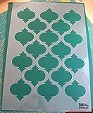 Pochoir de motif quadrilobe marocain pour artisanat ou décoration murale de maison - Ideal Stencils Ltd, Plastique, L/A2/see image for info