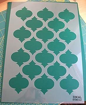 Pochoir de motif quadrilobe marocain pour artisanat ou d\u0026eacute;coration  murale de maison , Ideal