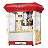 Great Northern Popcorn Red Princeton 8-Ounce Bar Style Antique Popcorn Machine