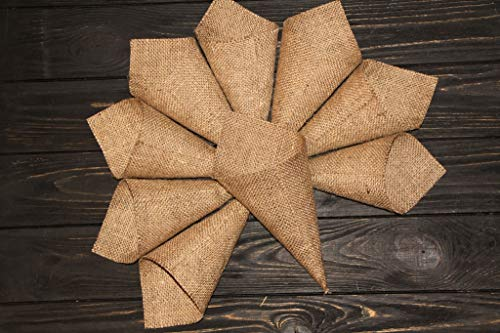 Burlap Cones, Set of 30, Wedding Rose Petals, Burlap Wedding, Flower Cone, Rustic Wedding Decor, Cones for Favors, Burlap Aisle Runner, Bridal Shower Cone