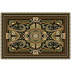 Fashion Retro Gothic Carpet Rug Carpets Living Room 2mm Thicken Big Round Floor Carpets For Living Room Bathroom Circle Mat Rug (1)