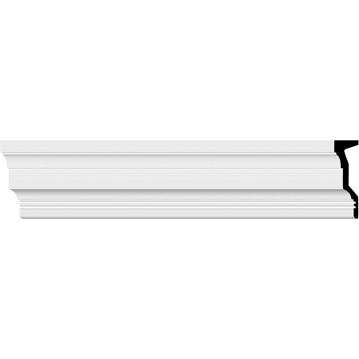 Ekena Millwork MLD12X04ST 11 7/8''H x 3 5/8''P x 94 1/2''L Standard Moulding