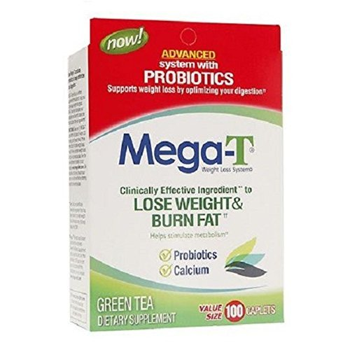 Mega-t Weight Loss System Green Tea, Probiotics & Calcium Dietary Supplement, 90 Count by Mega-T