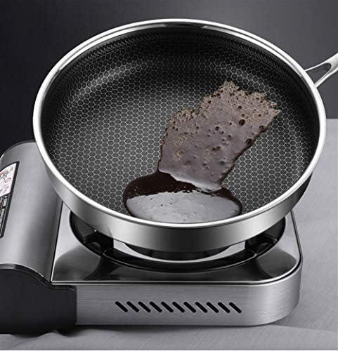 フライパン、焦げ付き防止の鍋、304ステンレス鋼鍋、世帯の揚げられたステーキのパンケーキの炊事道具の電磁調理器