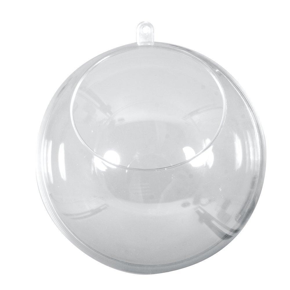 Rayher Plastic Ball, Transparent/Crystal, 12 cm, 4-Piece Rayher Hobby GmbH 39481800