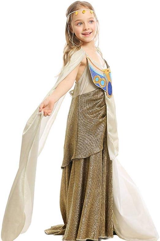 Pkfinrd Disfraz de faraón de Halloween for niños de Falda Larga ...