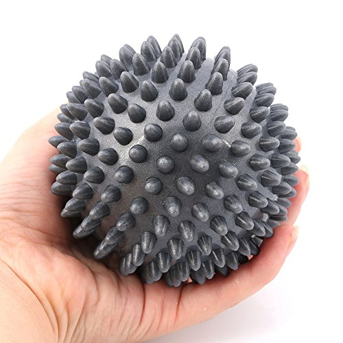 Plantar Fasciitis Massage Ball for Myofascial Foot Pain Relief, Spiky for Deep Tissue Back Massage, Foot Massager, Plantar Fasciitis & All Over Body Deep Tissue Muscle Massage