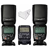 YONGNUO YN600EX-RT II 2PCS Wireless HSS Flash Speedlite + YN-E3-RT Speedlite Transmitter for Canon DSLR Cameras