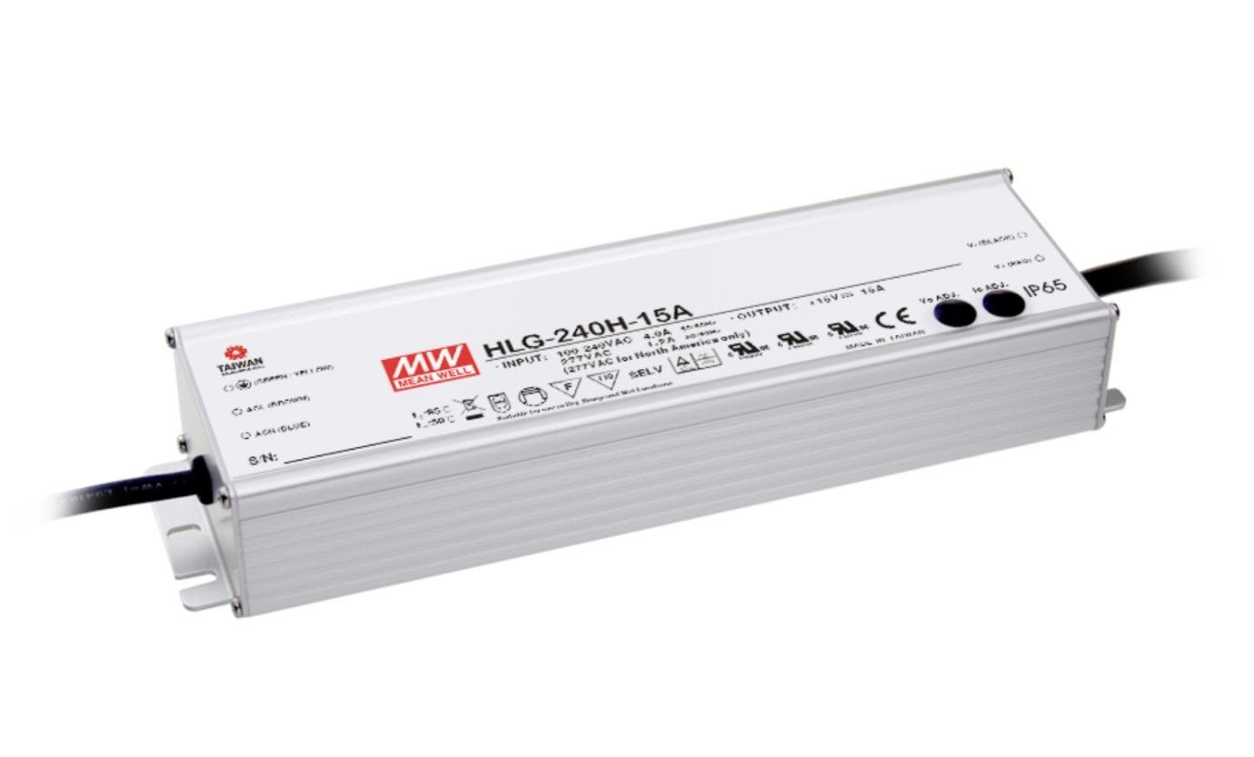 LED Driver 241.2W 36V 6.7A HLG-240H-36B Meanwell AC-DC SMPS HLG-240H Series MEAN WELL C.V+C.C Power Supply