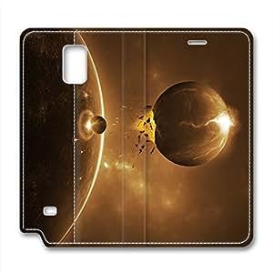 DIY Universe Design Leather Case for Samsung Note 4 Collide