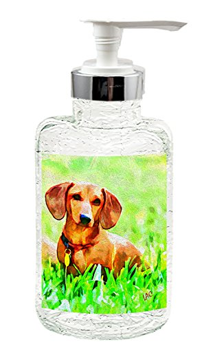 Dachshund 'Daisy' Clear Glass Soap Dispenser from DoggyLips - 8 (Dachshund Soap)