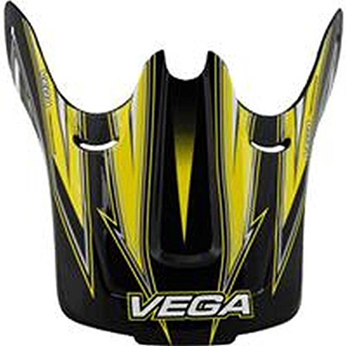 Vega Viper Replacement Off-Road Helmet Visor with Stage Graphics (Yellow, One Size)
