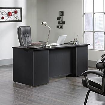 Amazon Com Sauder Edge Water Executive Desk Estate Black