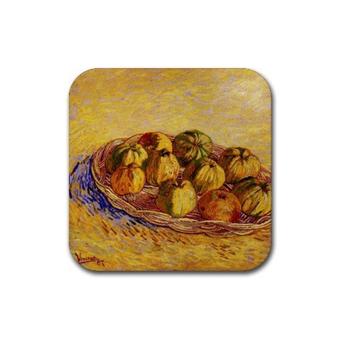 Still Life with Basket of Apples By Vincent Van Gogh Square Coasters