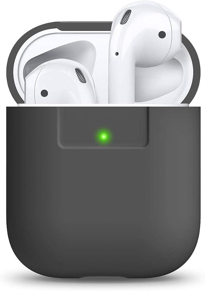 Elago Airpods Silikon Schutzhülle Für Apple Airpods 2 1 Dunkelgrau