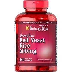 Puritan's Pride Red Yeast Rice 600 mg-240 Capsules
