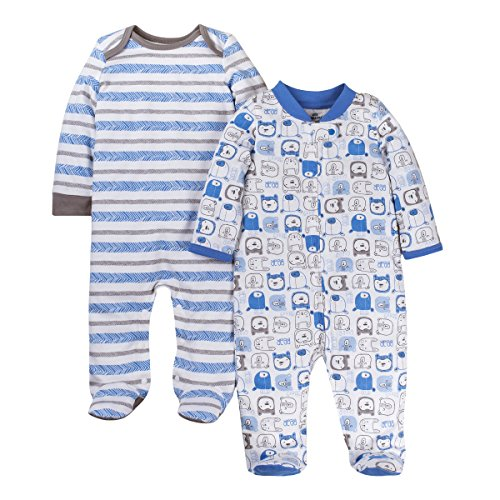Price comparison product image Lamaze Organic Baby Kids & Baby Boys Baby Organic 2 Pack Sleep N Play,  Blue 6M