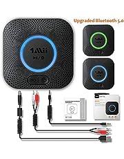 1Mii Ricevitore Bluetooth 5.0, Adattatore Audio Bluetooth Hi-Fi con Jack Aux da 3,5mm e Rca, Ricevitore Audio Wireless con 3D Surround AptX LL per Altoparlante Casa e Stereo Domestico Lungo Raggio 50m