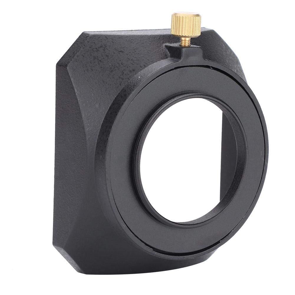 43mm Tapa Cuadrada de Metal Sombrero Accesorio para Videoc/ámara DV Filtro de Lente de C/ámara de Video Digital EBTOOLS Capucha de Lente Cuadrada Port/átil