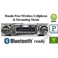 Bluetooth Enabled 1965 Chevy Impala USA-630 II High Power 300 watt AM FM Car Stereo/Radio