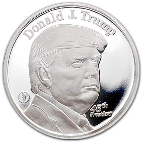 1 Troy Oz .999 Pure Silver Medal President Donald Trump and The White House by MMX