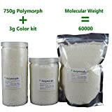 750g(26.5 oz) PCL+3 g Pigments plastimake Polymorph Thermoplastic polycaprolactone plastic for hobbyist mould (750g PCL+Black+Red+Green)