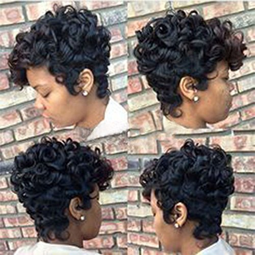 FORUU Wigs, 2019 Valentine's Day Surprise Best Gift For Girlfriend Lover Wife Party Under 5 Free delivery Women Short Black Brown FrontCurly Hairstyle Synthetic Hair Wigs For Black -