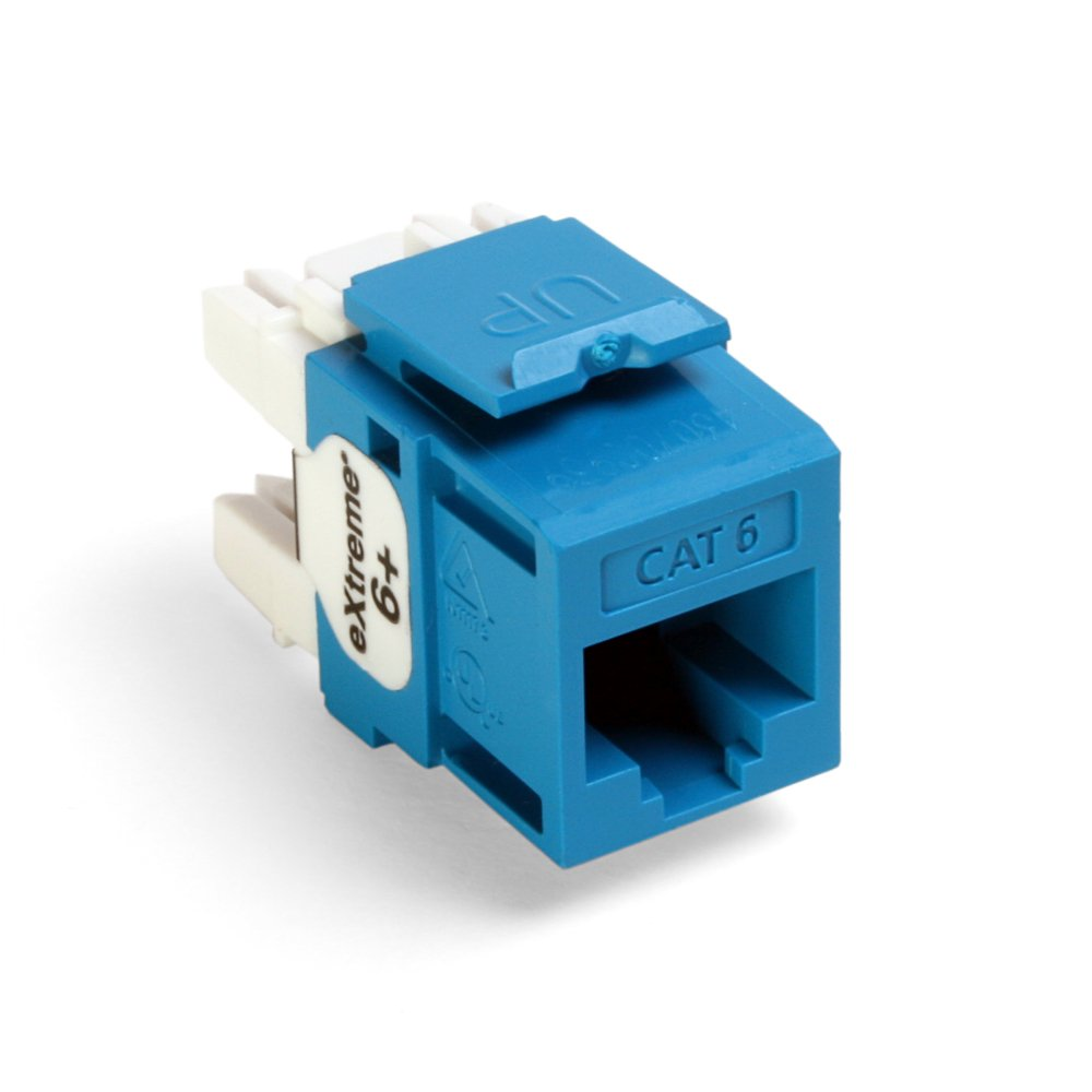 Leviton 61110-BL6 Extreme Quick Port Connector, Blue, 25-Pack